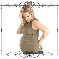 Personalized Heart Maternity Top