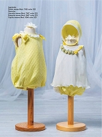 Lux Yellow Floral Top & Bloomer Set with hat by Barcarola