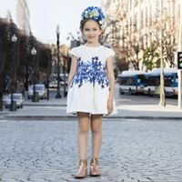 White Floral Dress From Patachou