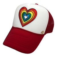 MT Rainbow heart cap