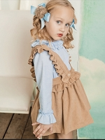 Corduroy Salopette dress set