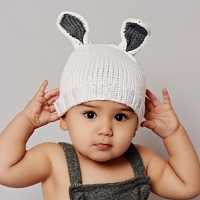 BAMBOO BAILEY BUNNY HAND-KNIT HAT