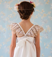 Angel Wings Lace Linen Ceremony dress