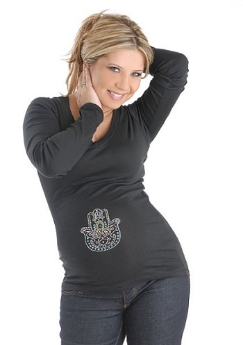 Blue Hand Maternity Top